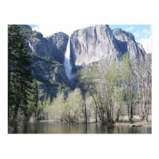 Majestic Waterfall in Yosemite Park Postcard