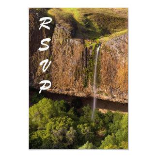 Majestic Waterfall RSVP: Phantom Falls in Chico CA 3.5x5 Paper Invitation Card