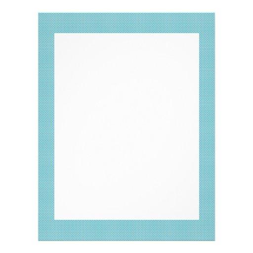 Majestic white flowers on blue background customized letterhead