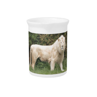Majestic White Lion Drink Pitcher