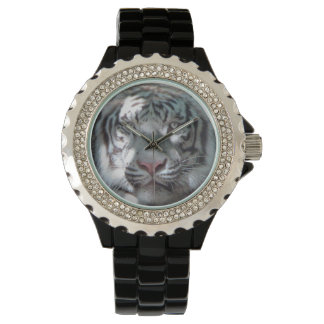 Majestic White Tiger Closeup Watch