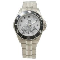 Majestic Whitetail Deer Illustration Wristwatch