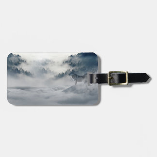 Majestic Wolves in the Forest Mist Luggage Tag