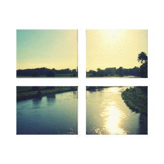 Majestical river Elbe Canvas Print