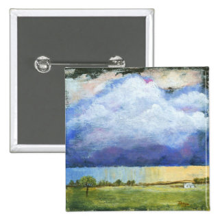 Majesty Abstract Art Landscape House Painting Button