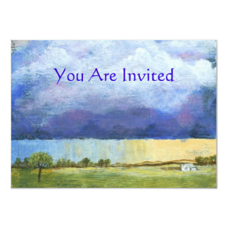 Majesty Abstract Art Landscape House Painting Card