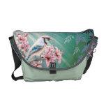 Majesty Blue Jay Bird Handbag Messenger Bags