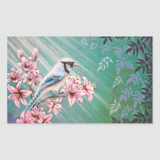 Majesty Blue Jay Bird Sticker Sheet