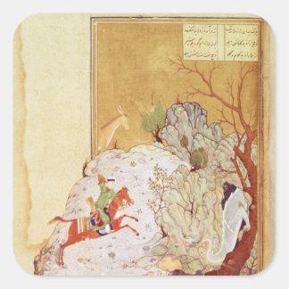 Majnun in the Desert Square Sticker