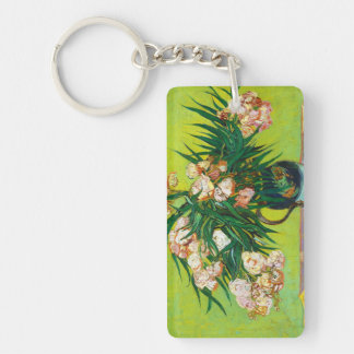 Majolica Jar Branches Oleander Vincent van Gogh Double-Sided Rectangular Acrylic Keychain