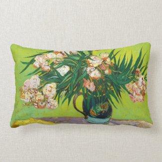 Majolica Jar Branches Oleander Vincent van Gogh Pillow