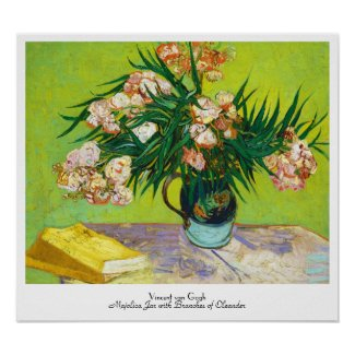 Majolica Jar Branches Oleander Vincent van Gogh Print