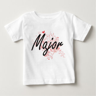 Major Artistic Job Design with Butterflies Baby T-Shirt