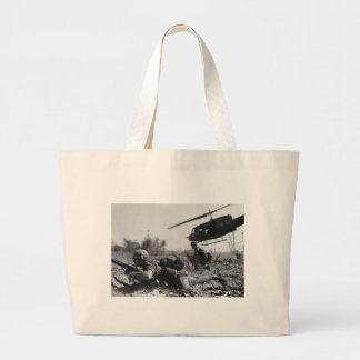 Major Crandall's UH-1D Helicopter in Vietnam War Tote Bags
