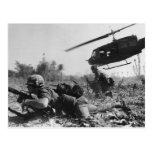 Major Crandall's UH-1D Helicopter in Vietnam War Postcard