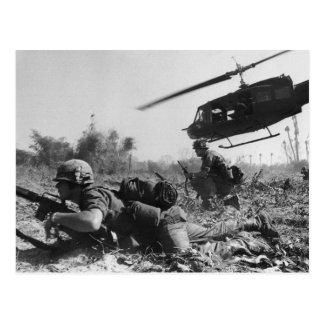 Major Crandall's UH-1D Helicopter in Vietnam War Postcards