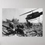 Major Crandall's UH-1D Helicopter in Vietnam War Print