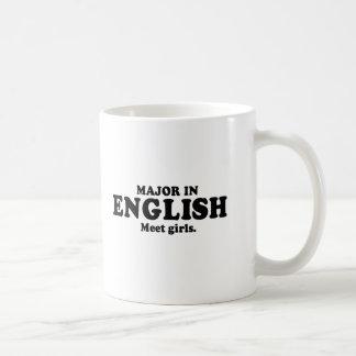 MAJOR EN INGLÉS - camiseta de los CHICAS de la REU Tazas De Café