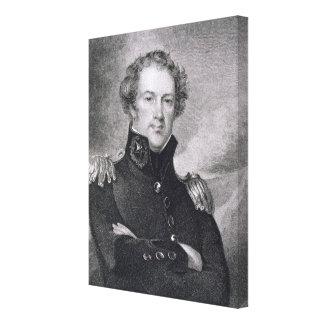 Major General Alexander Macomb (1782-1842), engrav Canvas Print