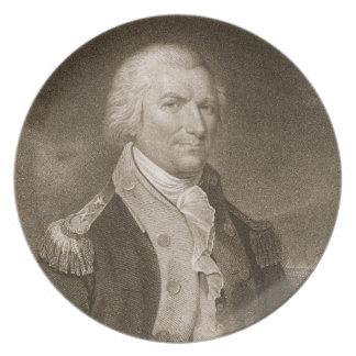 Major General Arthur St. Clair, engraved by Edward Dinner Plates