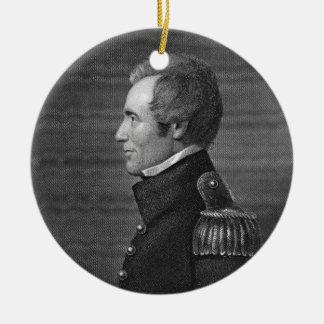 Major General Edmund Pendleton Gaines (1777-1849) Ceramic Ornament