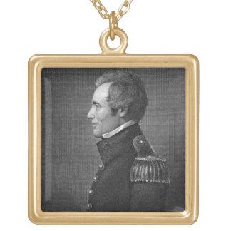 Major General Edmund Pendleton Gaines (1777-1849) Gold Plated Necklace
