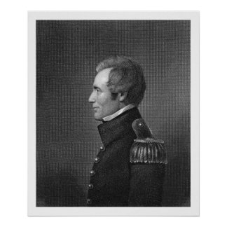 Major General Edmund Pendleton Gaines (1777-1849) Poster