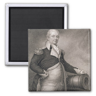 Major General Henry Knox (1750-1806) engraved by J 2 Inch Square Magnet