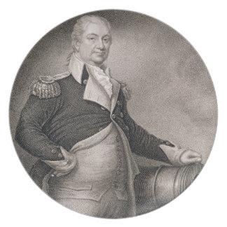 Major General Henry Knox (1750-1806) engraved by J Dinner Plate