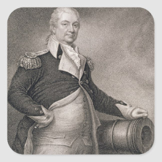 Major General Henry Knox (1750-1806) engraved by J Square Sticker