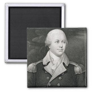 Major General Nathaniel Greene (1742-86), engraved 2 Inch Square Magnet