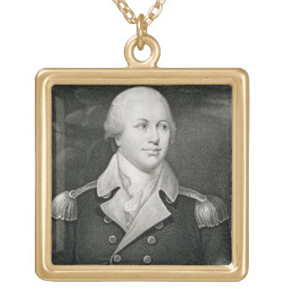 Major General Nathaniel Greene (1742-86), engraved Square Pendant Necklace