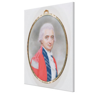 Major General Sir Barry Close (d.1813) 1794 (w/c a Stretched Canvas Prints