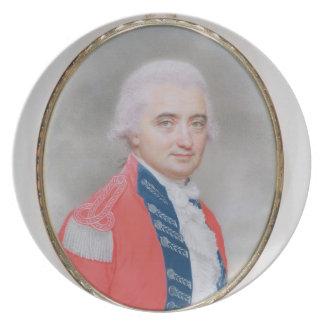 Major General Sir Barry Close (d.1813) 1794 (w/c a Dinner Plates