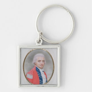 Major General Sir Barry Close (d.1813) 1794 (w/c a Silver-Colored Square Keychain