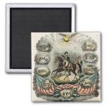 Major General William Henry Harrison, c.1813 2 Inch Square Magnet