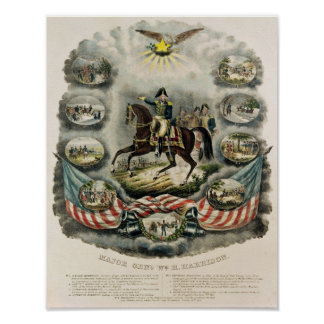 Major General William Henry Harrison, c.1813 Poster