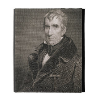 Major General William Henry Harrison, engraved by iPad Folio Cover
