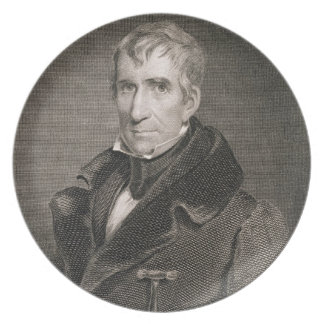 Major General William Henry Harrison, engraved by Party Plates
