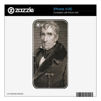Major General William Henry Harrison, engraved by Skin For iPhone 4