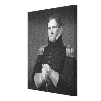 Major General Winfield Scott (1786-1866) engraved Canvas Print