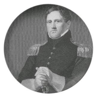 Major General Winfield Scott (1786-1866) engraved Dinner Plate
