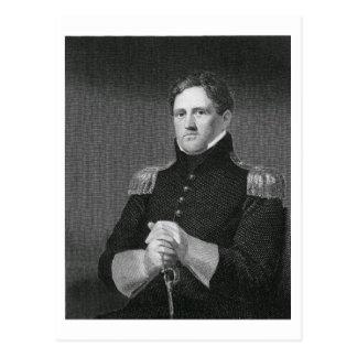 Major General Winfield Scott (1786-1866) engraved Postcard