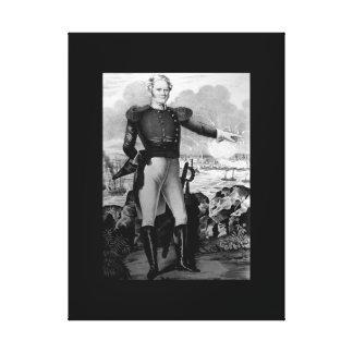 Major General Winfield Scott at Vera Cruz_War  Ima Canvas Print