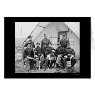 Major H.W. Sawyer and Staff at Camp Stoneman 1865 Greeting Card