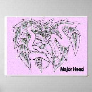 Major Head Poster