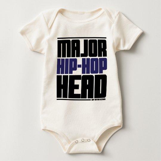 Major Hip Hop Head Blue Baby Bodysuit