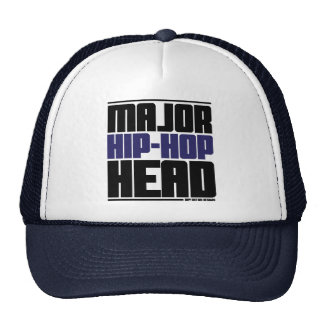 Major Hip Hop Head Blue Mesh Hat