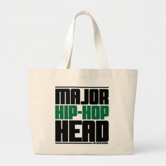 Major Hip Hop Head Green Canvas Bags