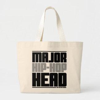 Major Hip Hop Head Grey Tote Bags